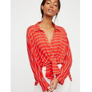 Free People We the Free Can't Fool Me Striped Top